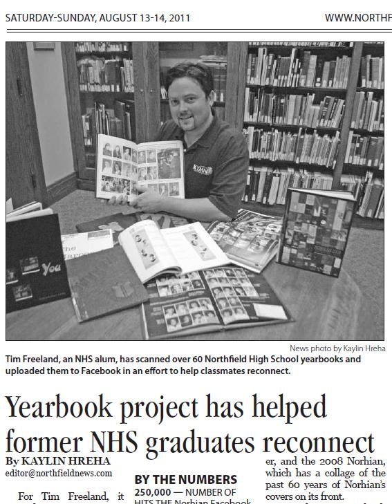 All Northfield MN Norhian High School Year Books Scanned